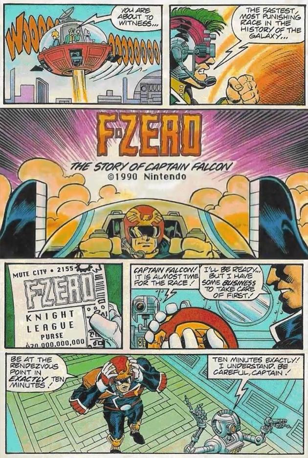 f zero comic nintendo instruction manuals online nintendo instruction manuals online